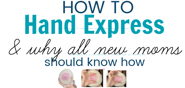 how to hand express breast milk