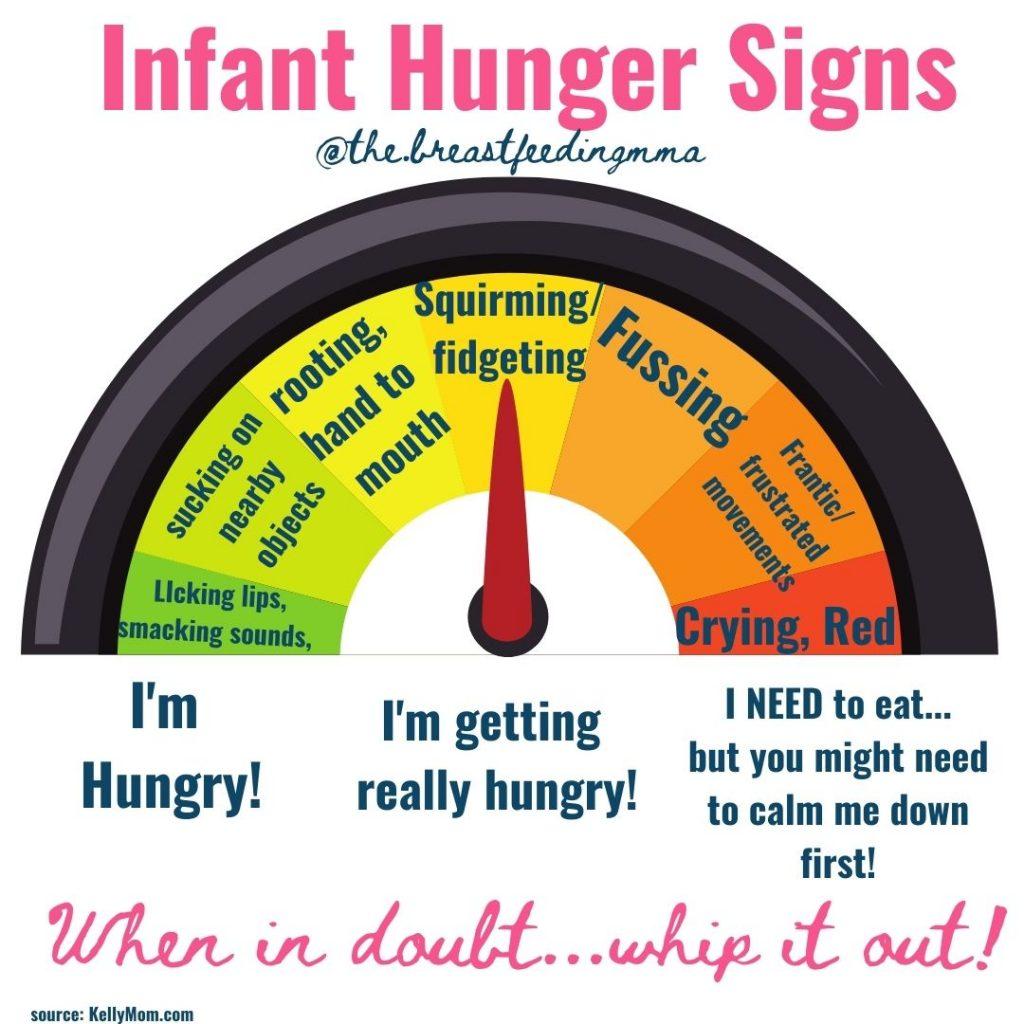 newborn hunger cues breastfeeding