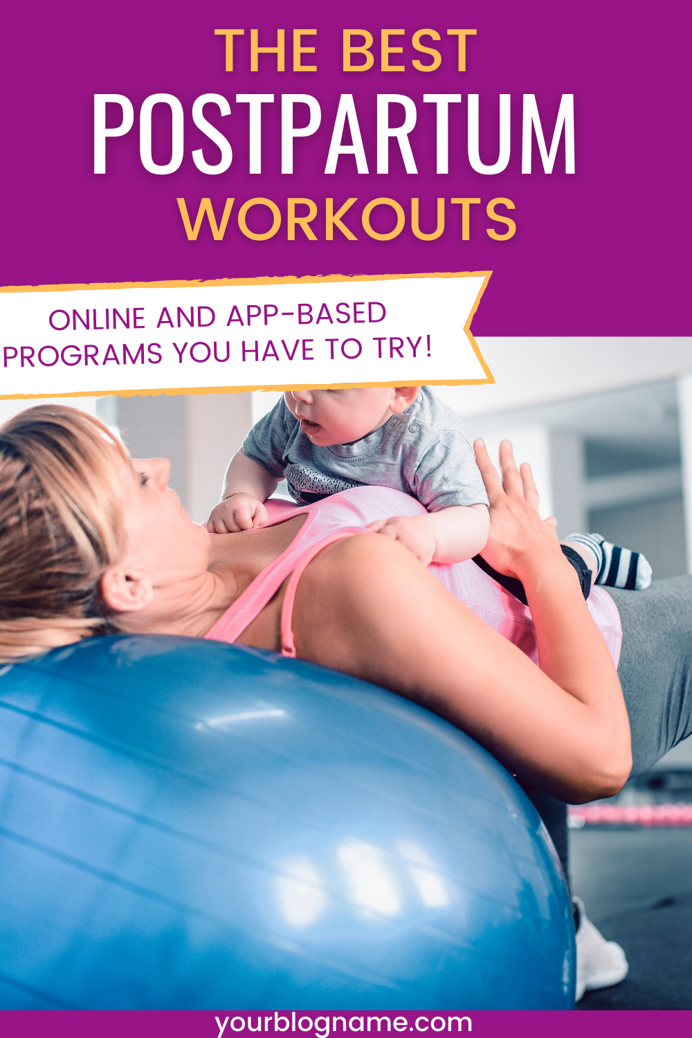 Looking for a little motivation for getting back into a fitness routine after pregnancy? Here is a list with the best online postpartum workouts available for new moms!