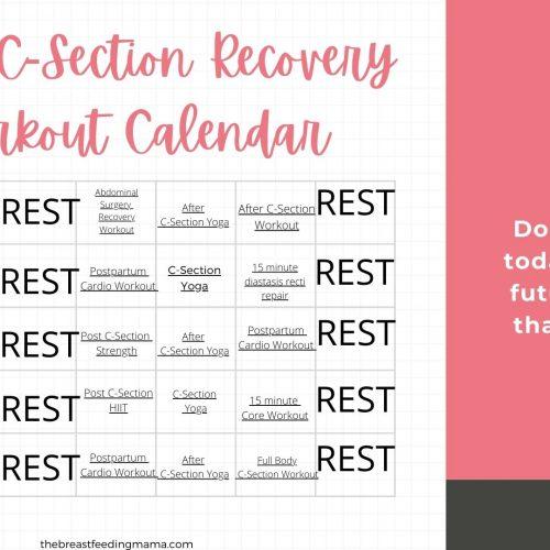 c-section workout calendar