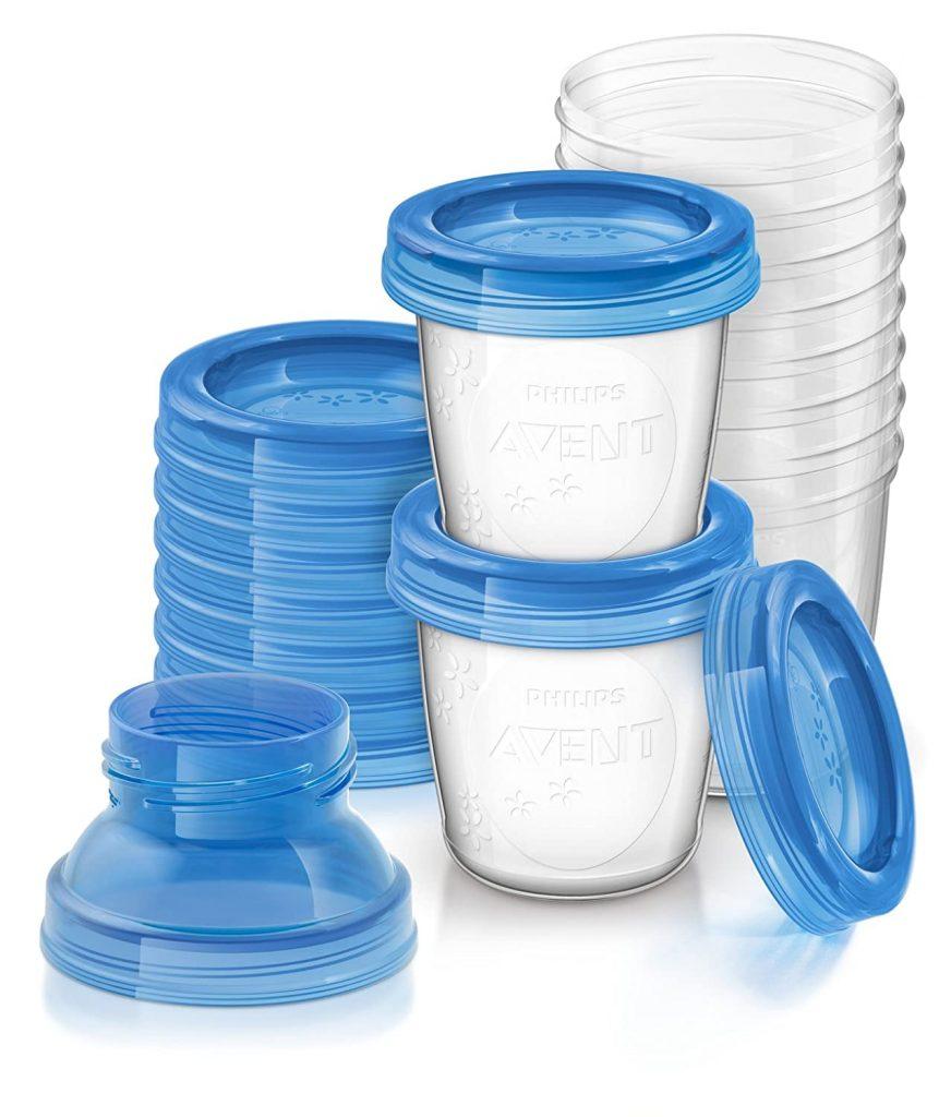 philip's avent breastmilk storage cups