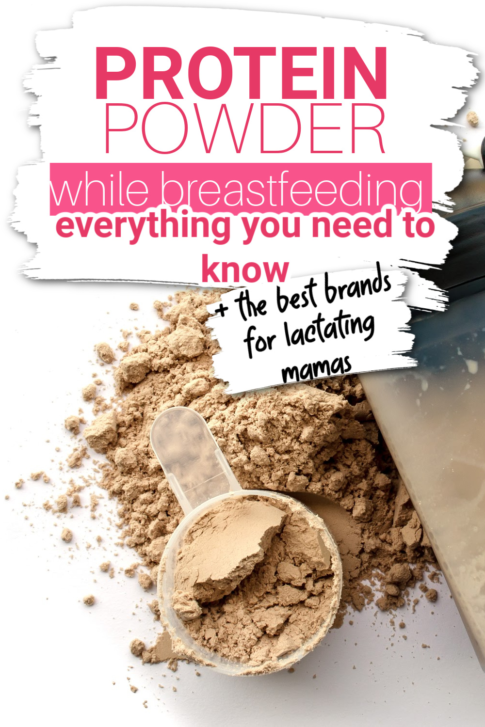 Are you wanting to use protein powder while breastfeeding? Many women wonder how safe it is, and if there are any brands that are safe while breastfeeding - or that might even increase milk supply. This article has everything you need to know about protein powder and breastfeeding, along with our favorite protein powders for breastfeeding mothers.