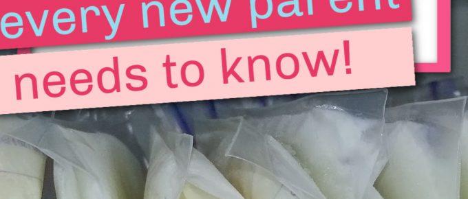 breast milk freezer storage
