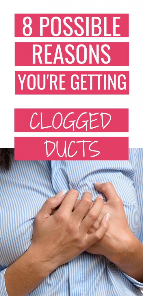 what causes a clogged milk duct